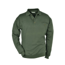 Sweat-Shirt uni mit Polo-Kragen