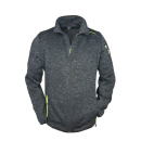 Brigg Herren Fleecejacke in Strickoptik